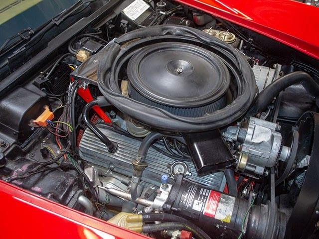 1974 L48 V8 4 Speed Manual Convertible Corvette Red interior