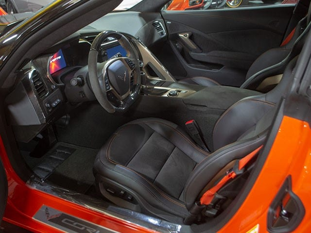 2019 Sebring Orange Corvette coupe