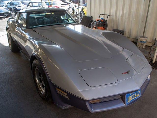 1981 Silver Corvette Coupe