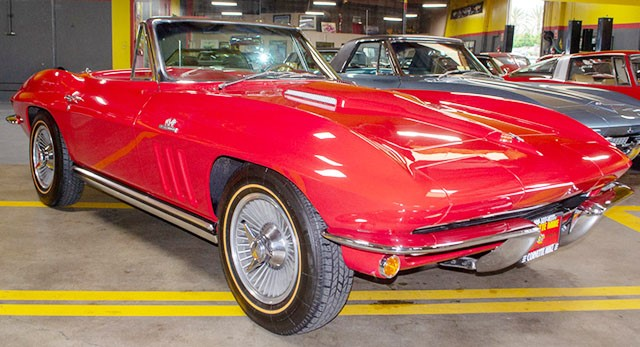 1965 Red 396 Corvette Convertible