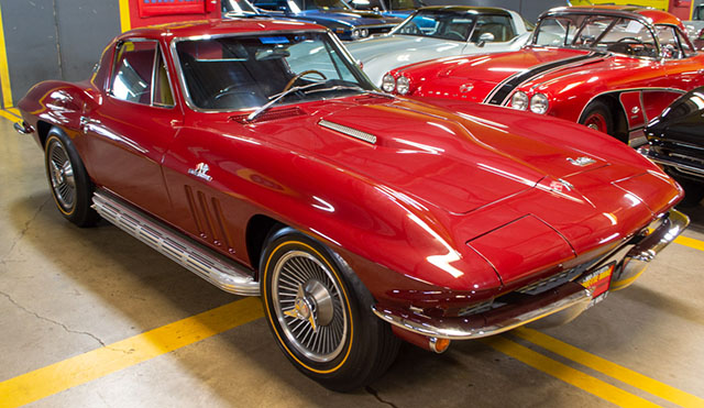 1966 Maroon Corvette L72 Coupe