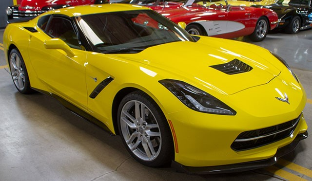 2017 Yellow Corvette