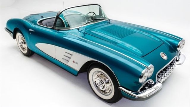 Turquoise Corvette