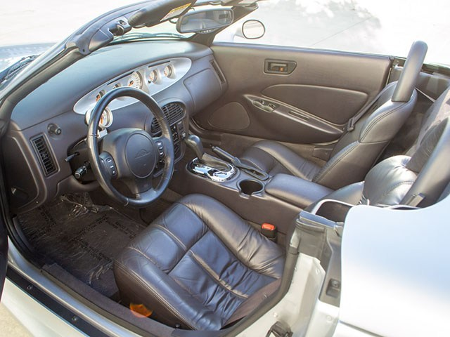 2002 silver chrysler prowler interior