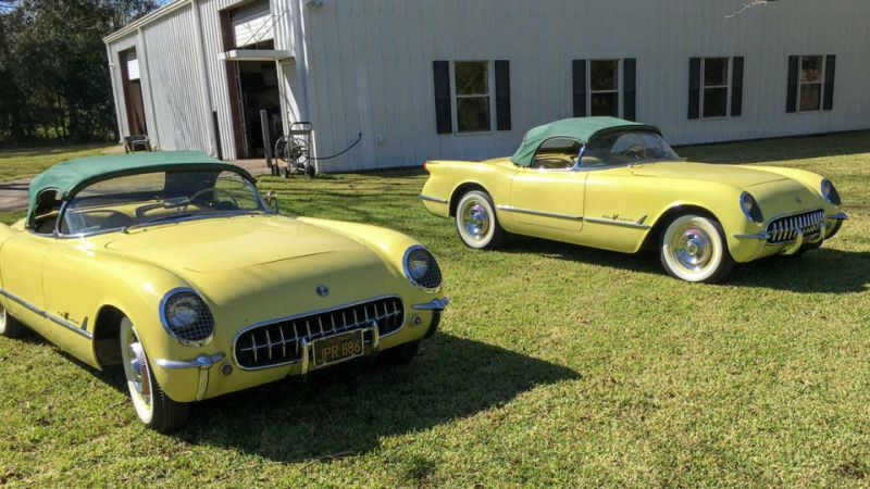 Twin 1955 Corvettes