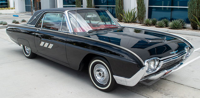 1963 black thunderbird coupe exterior