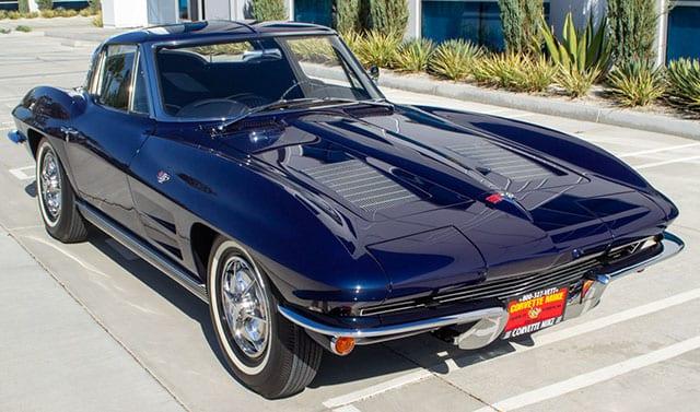 1963 Blue Corvette Split Window Coupe Externial