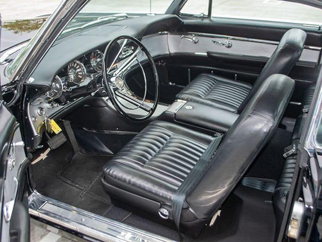 1962 Black Ford Thunderbird M Code Landau Hardtop Interior