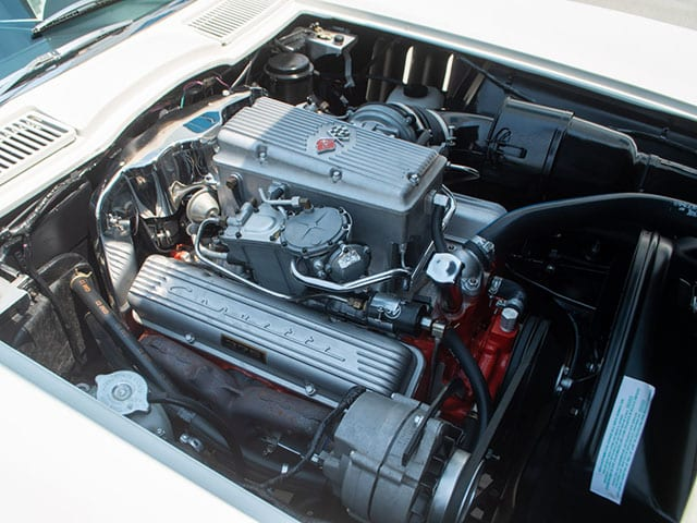 1965 Ermine White Corvette Fuel Injected Convertible Engine