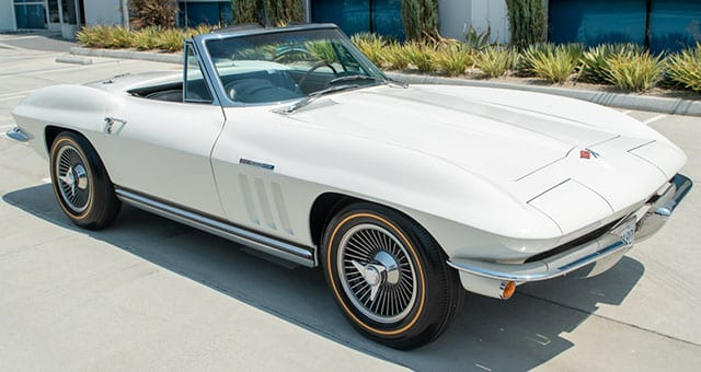 1965 Ermine White Corvette Fuel Injected Convertible Exterior