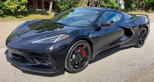 2020 C8 Corvette Black Black Exterior