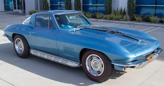 1967 Blue Corvette L71 Coupe Exterior