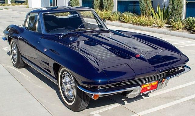 1963 Blue Corvette Split Window Coupe Exterior 1
