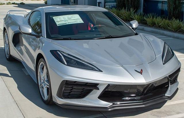 2020 c8 corvette silver red exterior 1