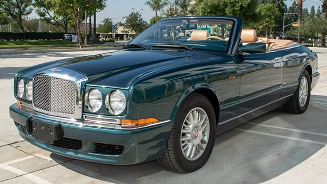 1999 green bentley azure coming 1 1