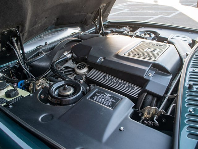1999 green bentley azure engine 1