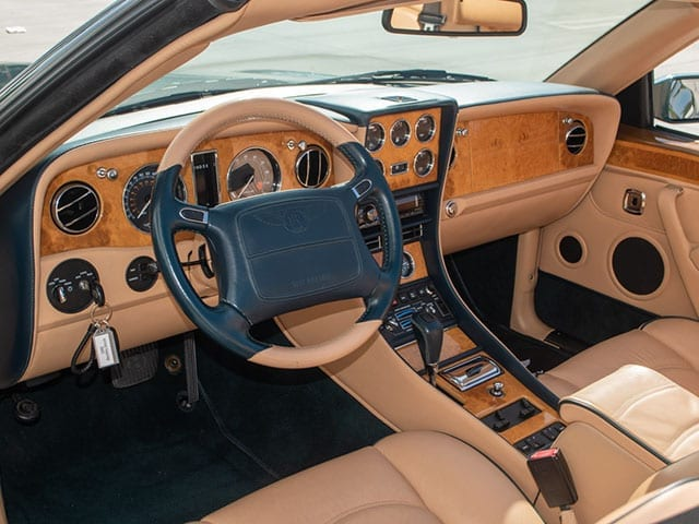 1999 green bentley azure interior 1