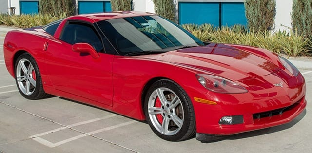 2008 red corvette coupe exterior 1