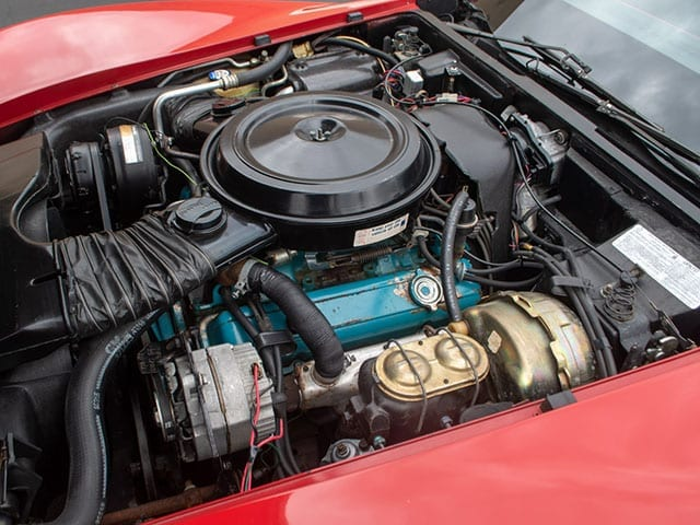 1979 red red c3 corvette coupe motor 1