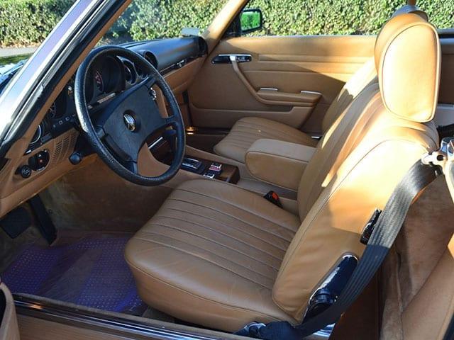 1980 brown mercedes benz 450sl interior