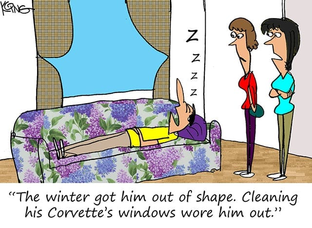 corvette cartoon 1