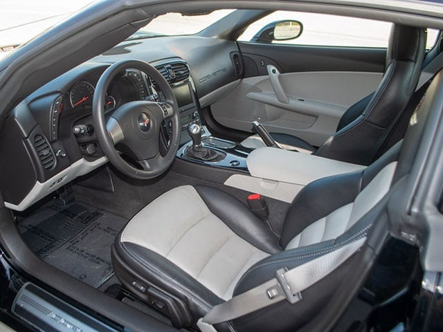 2008 black corvette indianapolis 500 pace car coupe interior 1
