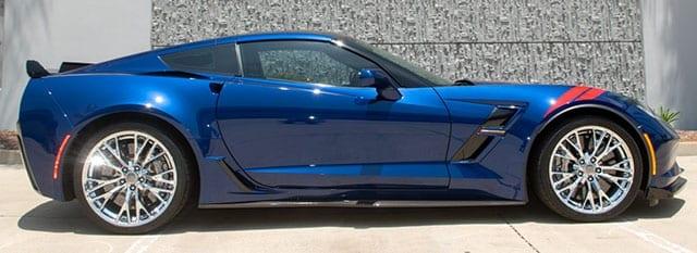 2017 blue grand sport corvette coupe 3lt z07 exterior 1