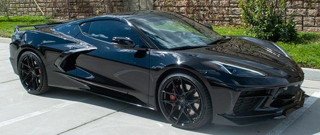 2021 black c8 corvette coupe 3lt z51 exterior