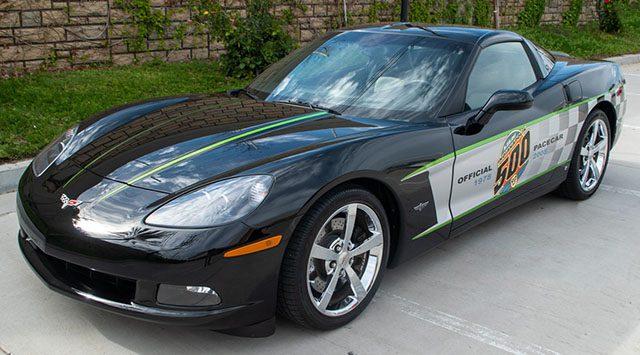 2008 black corvette indianapolis 500 pace car coupe bat