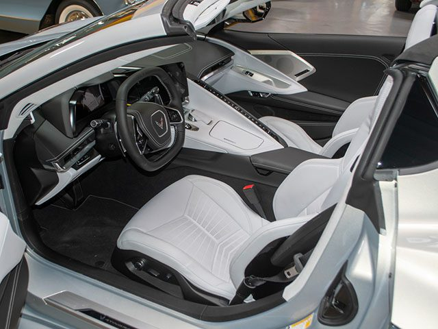 2021 silver flare c8 corvette convertible interior 1