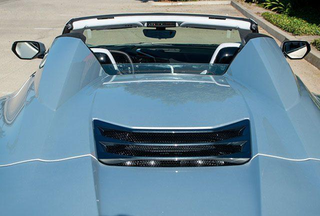 2021 silver flare c8 corvette convertible rear 1