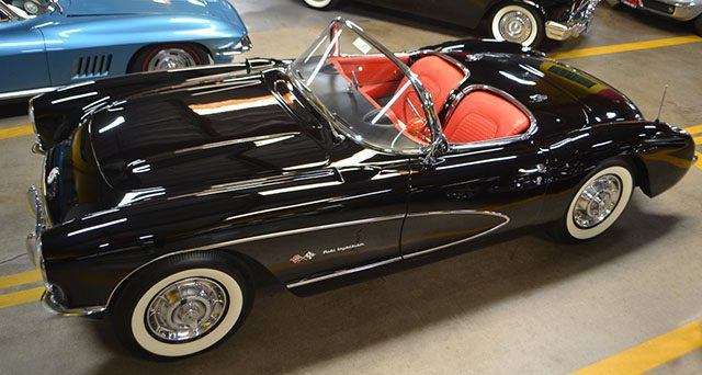 1957 black corvette raymond d 1