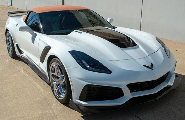 2019 corvette zr1 arctic white kalahari interior 3zr 2